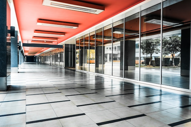 Indoor alone corridor Free Photo