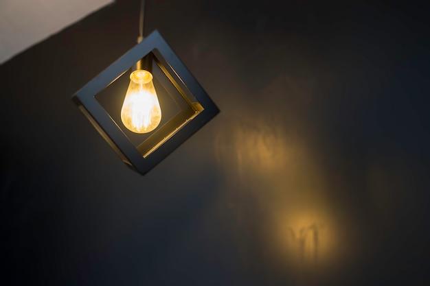 Indoor vintage retro light ceiling lamp Premium Photo