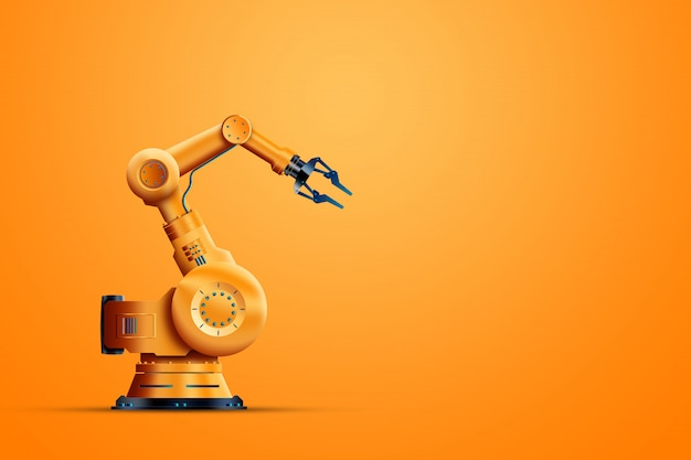 Industrial robot manipulator Premium Photo