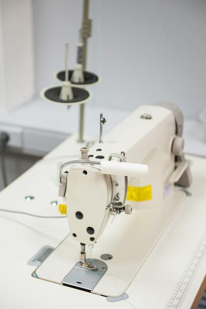 Industrial sewing machine Premium Photo