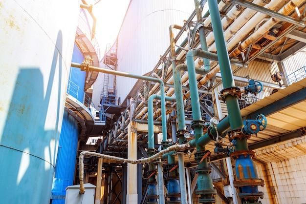 Industrial zone pipeline Premium Photo