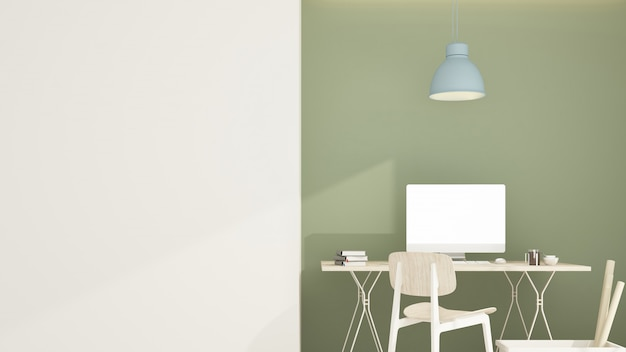 Ineriorマンションの空間をリラックス -  3 dレンダリング Premium写真