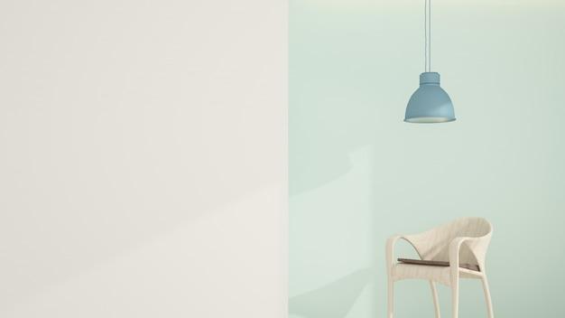 The inerior relax space in condominium - 3d rendering Premium Photo