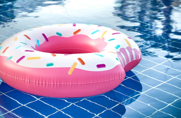 Inflatable accessories for swimming in the pool Free Photo