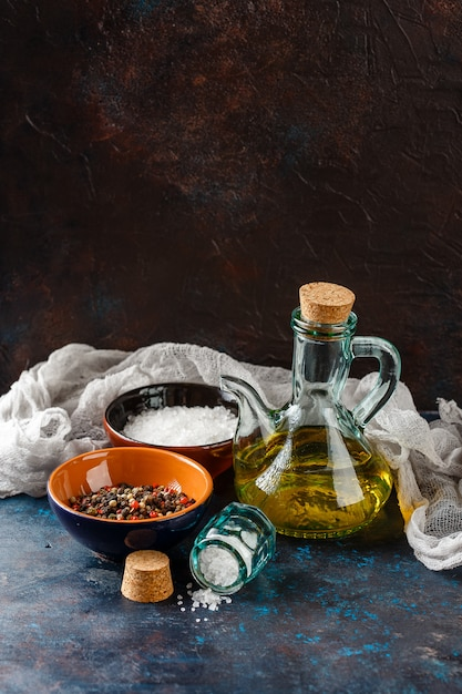 The ingredients for marinating meat Premium Photo