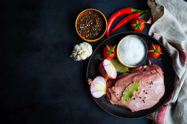 Ingredients for souzi dish Premium Photo