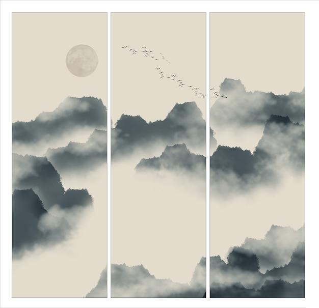 Inchiostro circolare nuvole di schizzo nave Foto Gratuite