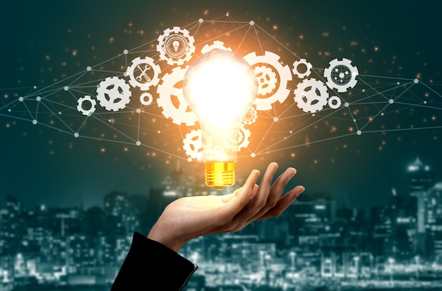 Innovation technology for business finance concept Premium Photo