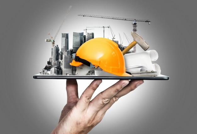 Innovative architecture and civil engineering plan Premium Photo