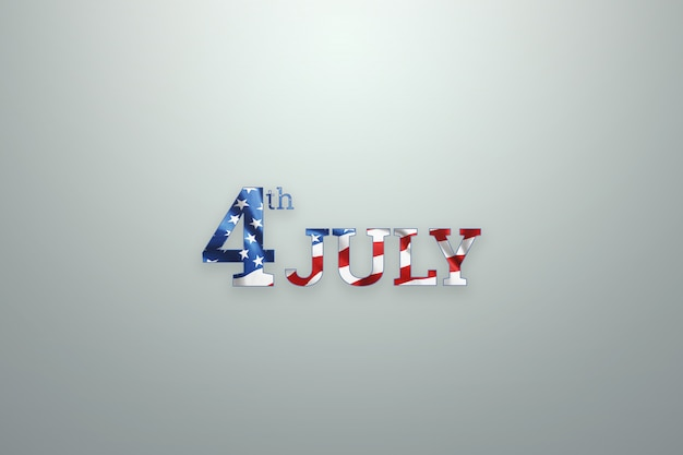 Inscription 4th of july on wooden background for usa independence day Premium Photo