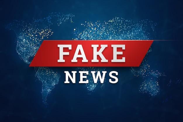 Inscription is fake news banner Premium Photo