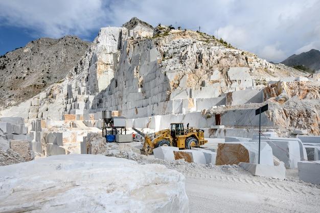 Inside an open cast carrara marble quarry