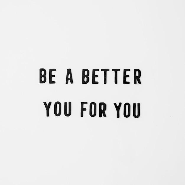 Inspirational text on white background Free Photo