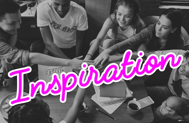 Inspire inspiration positivity word concept Free Photo