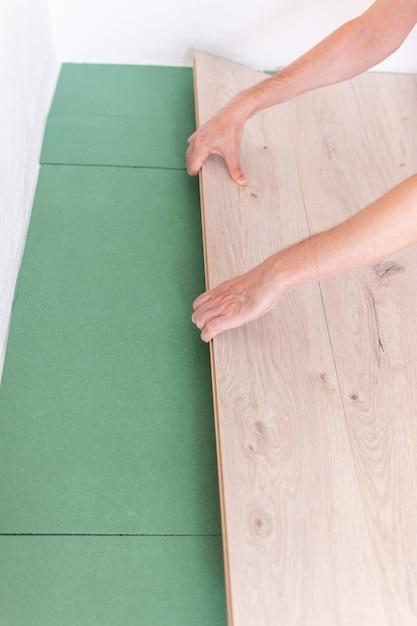 Premium Photo Installation Laminate, Do You Need To Put Padding Under Laminate Flooring