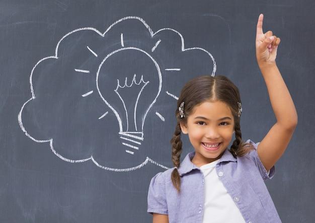 Installing education holding technology raised Free Photo