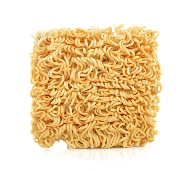 Instant noodles isolated on white Premium Photo