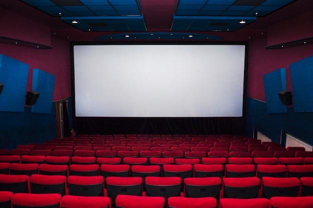 Interior of cinema hall with chairs Premium Photo