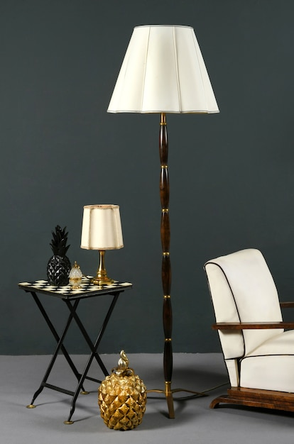 Interior decor with stylish vintage furniture Premium Photo