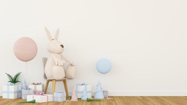 The interior decoration gift space in festival - 3d rendering Premium Photo