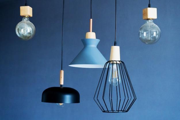 Premium Photo Interior Decoration Of Stylish Housing Loft Style Incandescent Lamp Modern Style Home Design