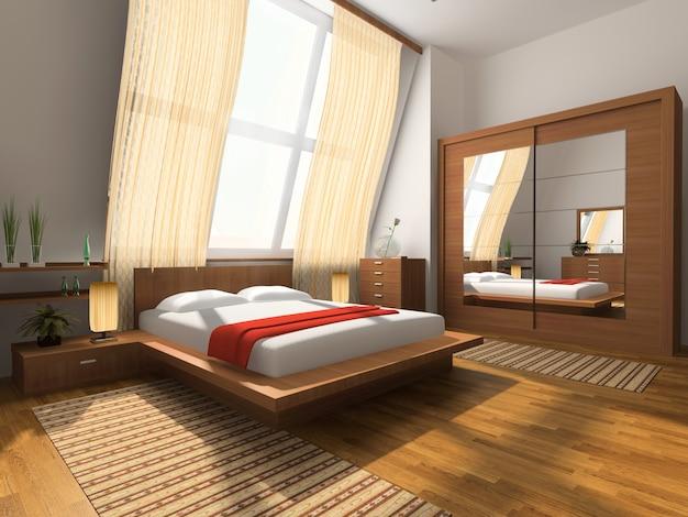 Interior design of an elegant bedroom Premium Photo