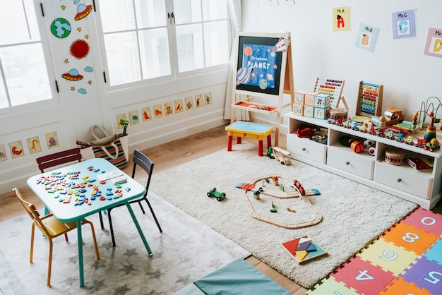 Interior design of a kindergarten classroom Premium Photo