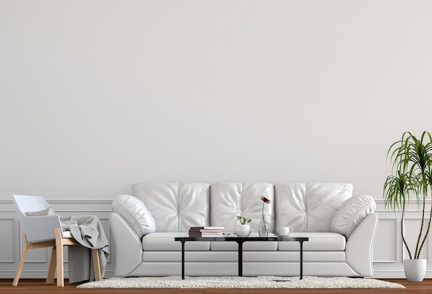 Interior design for living area or reception with armchair Premium Photo