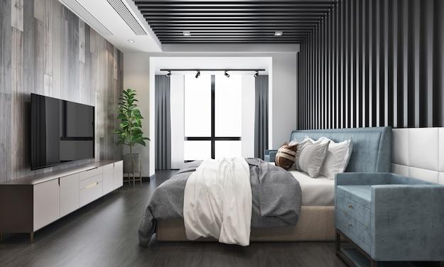 Interior design modern bedroom Premium Photo