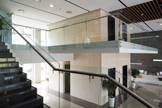 Interior design of modern building Free Photo