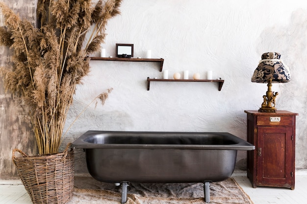 Дизайн интерьера с винтажной ванной Бесплатные Фотографии