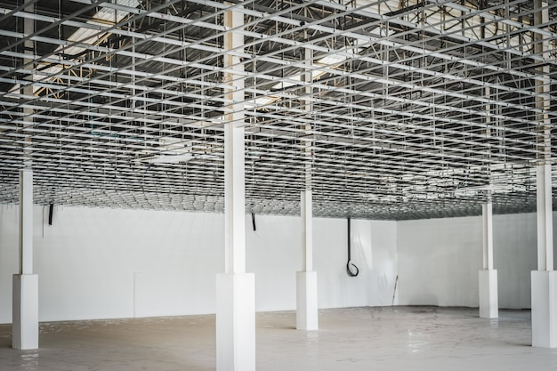 Interior of a house under construction. Premium Photo