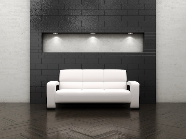 Interior living room with furniture and sofa Premium Photo