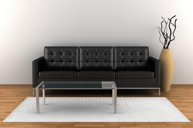 Interior living room with furniture Premium Photo