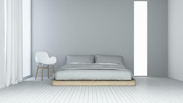 Premium Photo Interior Minimal Bedroom Space In Hotel