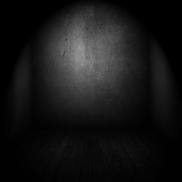 Интерьер старой комнаты с точечным светом Бесплатные Фотографии