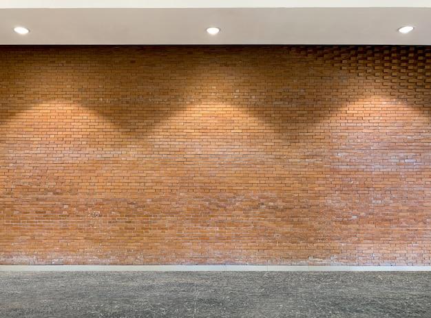 Interior of old brick texture background Premium Photo