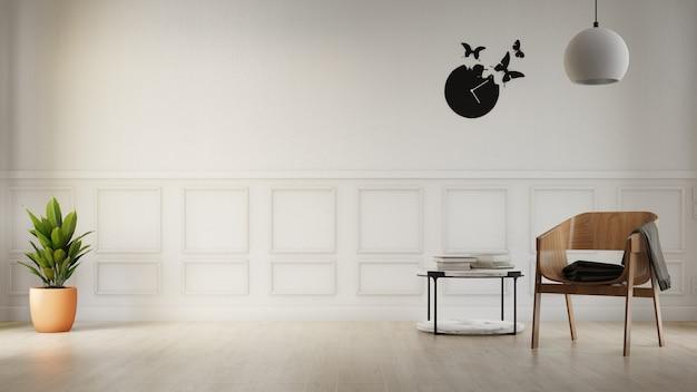 Interior poster living room with colorful white sofa Premium Photo
