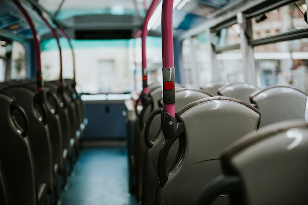 Interior of a public bus transport Free Photo