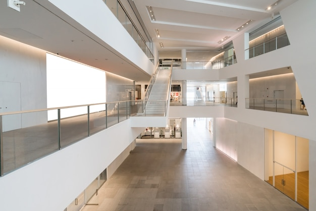 Interior space of cultural and art center, a cultural and art center in shenzhen, china Premium Photo