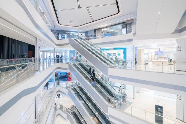 Interior space of department store Premium Photo