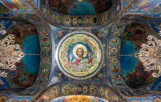 Interior of the st isaac cathedral in russia. Premium Photo