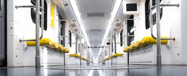 Interior to a train Premium Photo