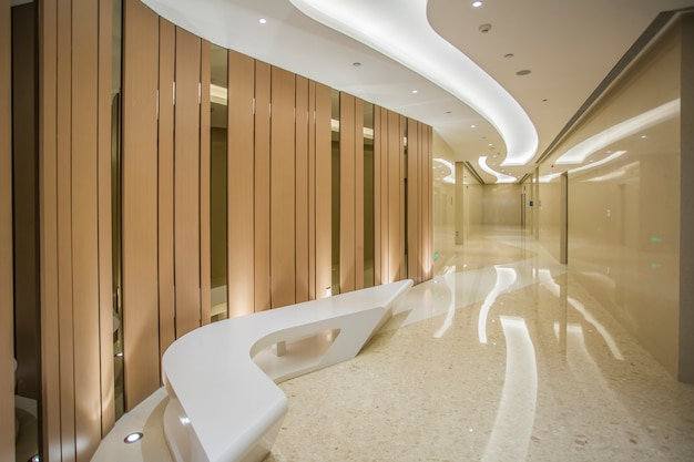 Interior view of bathroom in shopping mall hotel Premium Photo
