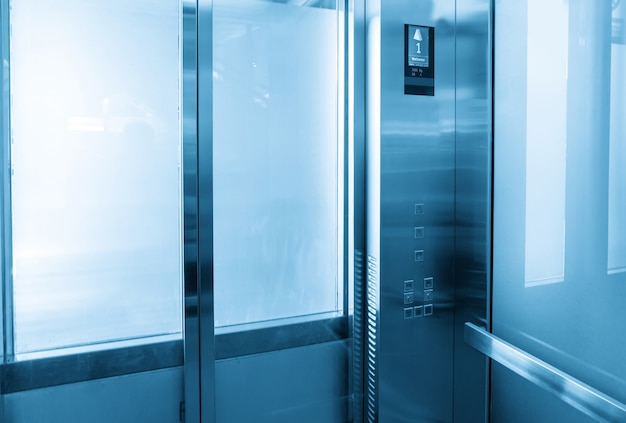 Interior view of a modern elevator Premium Photo