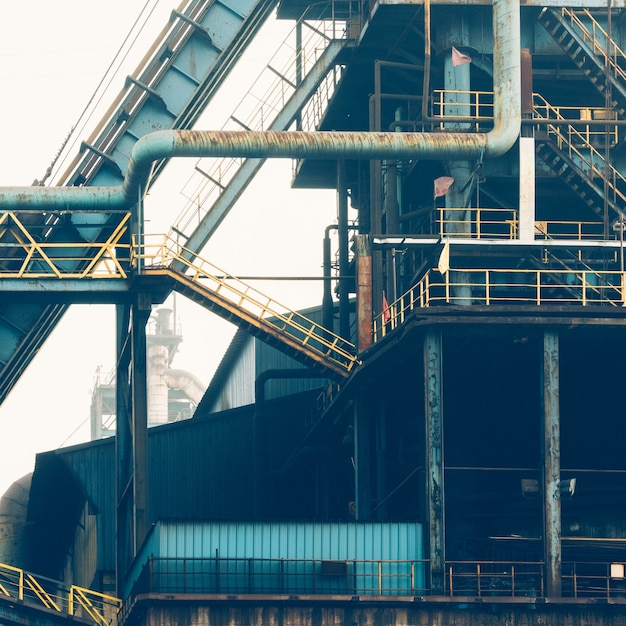 Interior view of a steel factory Free Photo