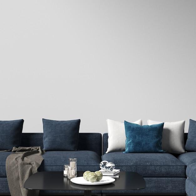 Interior wall mockup Premium Photo