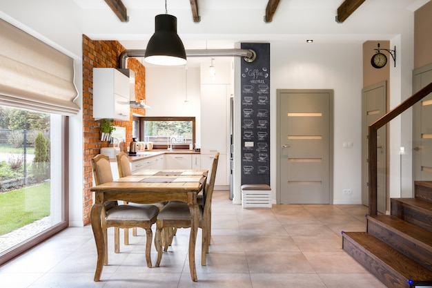 Interiors with furniture Premium Photo