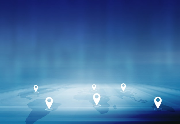International business and trading concept between cities and countries Premium Photo