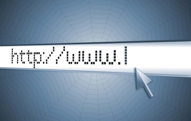 Internet address, computer screen Premium Photo